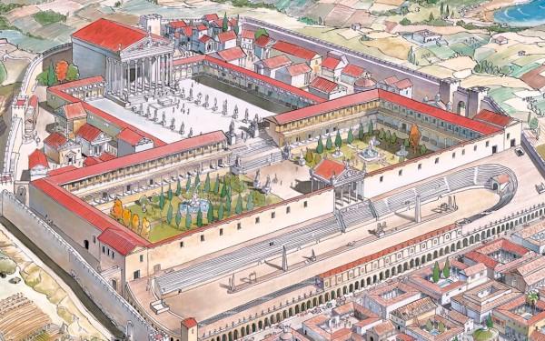 plànol de la tarraco romana tarragona itinere visita guiada